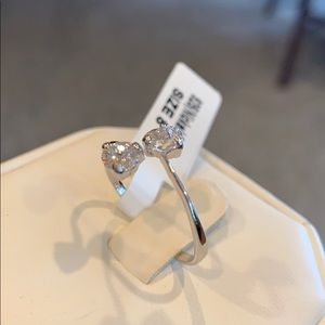 Sterling Silver CZ Engagement Promise Ring size 8